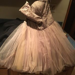 Forever 21 tulle dress w/paisley bodice